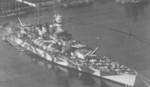 Battleship Roma in port, date unknown
