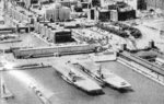 USS Wolverine and USS Sable at Chicago, Illinois, United States, 1945-1947.