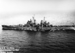 USS Saint Paul underway in Massachusetts Bay, Massachusetts, United States, 15 Mar 1945, photo 1 of 2