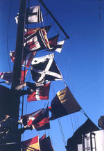 Signal flags flying from Sanborn