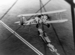 T4M-1 aircraft flying over USS Saratoga, 1929