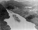USS Saratoga transiting the Panama Canal, 1928-1932