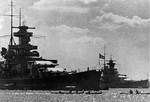 Scharnhorst and Gneisenau in port, circa summer 1939