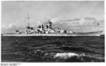 Scharnhorst at sea, circa 1939, photo 2 of 2