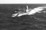 USS Sennet underway off Key West, Florida, United States, 21 Apr 1952