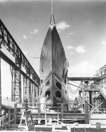 Shark nearly ready for launching at the Electric Boat Company shipyard, Groton, Connecticut, United States, 20 May 1935