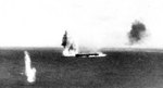 Bombing attack on Japanese carrier Shokaku, Battle of the Coral Sea, 8 May 1942, photo 2 of 2