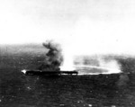 Dive bombing on Shokaku by dive bombers from Yorktown, 8 May 1942