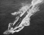 USS Spot underway in the Pacific Ocean, 24 Sep 1944, photo 1 of 3