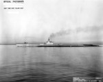 Port side view of USS Springer, off Mare Island Naval Shipyard, Vallejo, California, United States, 2 Dec 1944