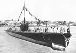 Sunfish shortly after launch, Vallejo, California, United States, 2 May 1942, photo 2 of 2