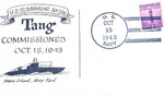 Postcard commemorating the commissioning of USS Tang, 15 Oct 1943