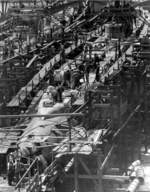 Tang (left) and Tilefish (right) under construction at Mare Island Navy Yard, Vallejo, California, United States, 1 Jul 1943, photo 1 of 3