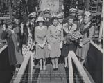 Launching party of Tang, Mare Island Navy Yard, Vallejo, California, United States, 17 Aug 1943