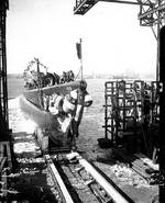Launch of submarine Tautog, 27 Jan 1940