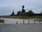 Side of battleship Texas as seen from the visitors