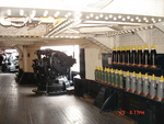 1912/1913 vintage 5in guns in the starboard-side aircastle of Texas, 2007; note the shells on display in the racks in between the guns