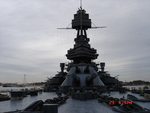 Battleship Texas as seen from the main deck, looking aft, 2007