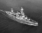 Battleship USS Texas off Norfolk, Virginia, United States, 15 Mar 1943