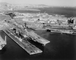 USS Hornet, USS Ticonderoga, USS Chicago, USS Hooper, and other ships at Hunter