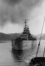 Tirpitz off Norway, circa 1942-1944