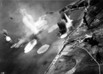 Tone under air attack near Kure, Japan, 24 Jul 1945; photo taken by USS Shangri-La aircraft