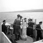 Officers on the bridge of Canadian corvette HMCS Trillium, circa 1940-1942