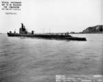 USS Tunny off Mare Island Naval Shipyard, Vallejo, California, United States, 3 Nov 1942