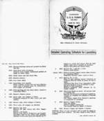 Detailed Operating Schedule for Launching of the Tunny, 30 Jun 1942, page 1 of 2