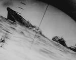 Yamakaze sinking as seen from the periscope of USS Nautilus, 25 Jun 1942