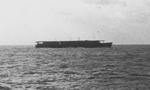 Carrier Unyo en route between Truk in the Caroline Islands and Yokosuka, Japan, early May 1943