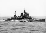 HMS Valiant at sea, 1939-1945; photograph taken from HMS Formidable