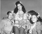 Hula dancers entertain returning Japanese-American veterans of US 442nd Regimental Combat Team aboard Victory Ship USS Waterbury Victory, Honolulu, US Territory of Hawaii, 9 Aug 1946; photo 7 of 7