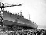 Launching of battleship Vittorio Veneto, Trieste, Italy, 25 Jul 1937