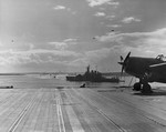 USS Wasp and USS Washington at Scapa Flow, Scotland, United Kingdom, 4 Apr 1942