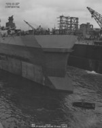 USS Washington with temporary bow, Pearl Harbor, US Territory of Hawaii, 4 Mar 1944