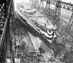 Launching of battleship Washington, Philadelphia Naval Shipyard, Pennsylvania, United States, 1 Jun 1940, photo 1 of 2