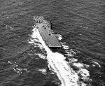 USS Wasp (Essex-class) underway off Trinidad, 22 Feb 1944, photo 2 of 2