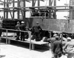 Keel laying ceremony of submarine Whale, Mare Island Navy Yard, Vallejo, California, United States, 28 Jun 1941, photo 1 of 2