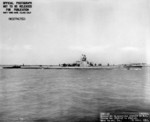 Starboard view of USS Whale off Mare Island Navy Yard, Vallejo, California, United States, 21 Apr 1945