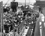 Keel laying ceremony of submarine Whale, Mare Island Navy Yard, Vallejo, California, United States, 28 Jun 1941, photo 2 of 2