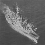 Battleship Wisconsin off Norfolk, Virginia, United States, circa 1950s