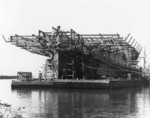 Seeandbee being converted into an aircraft carrier, Buffalo, New York, United States, 12 Jun 1942