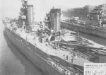 Yamashiro undergoing reconstruction, Yokosuka, Japan, 20 Apr 1932