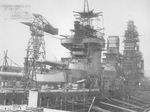 Yamashiro undergoing reconstruction, Yokosuka, Japan, 20 Oct 1934