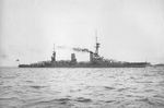Yamashiro moored off Yokosuka, Japan, 4 Jul 1917