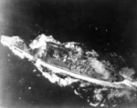 Yamato hit by a bomb in Sibuyan Sea, 24 Oct 1944