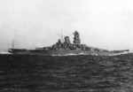 Battleship Yamato underway, circa late 1941, photo 2 of 2