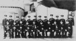 Officers aboard the Yamato in 1942, with Admiral Yamamoto 6th in front row