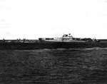 Destroyers Benham, Russell, Balch, and Anderson stood by as Yorktown was abandoned, afternoon of 4 Jun 1942, photo 1 of 2